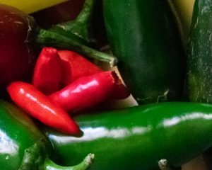 Jalapenos and tobasco peppers ingredients for keto crockpot chili