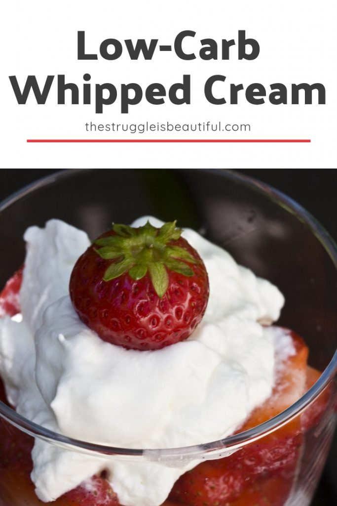 Simple Low-Carb Keto Whipped Cream