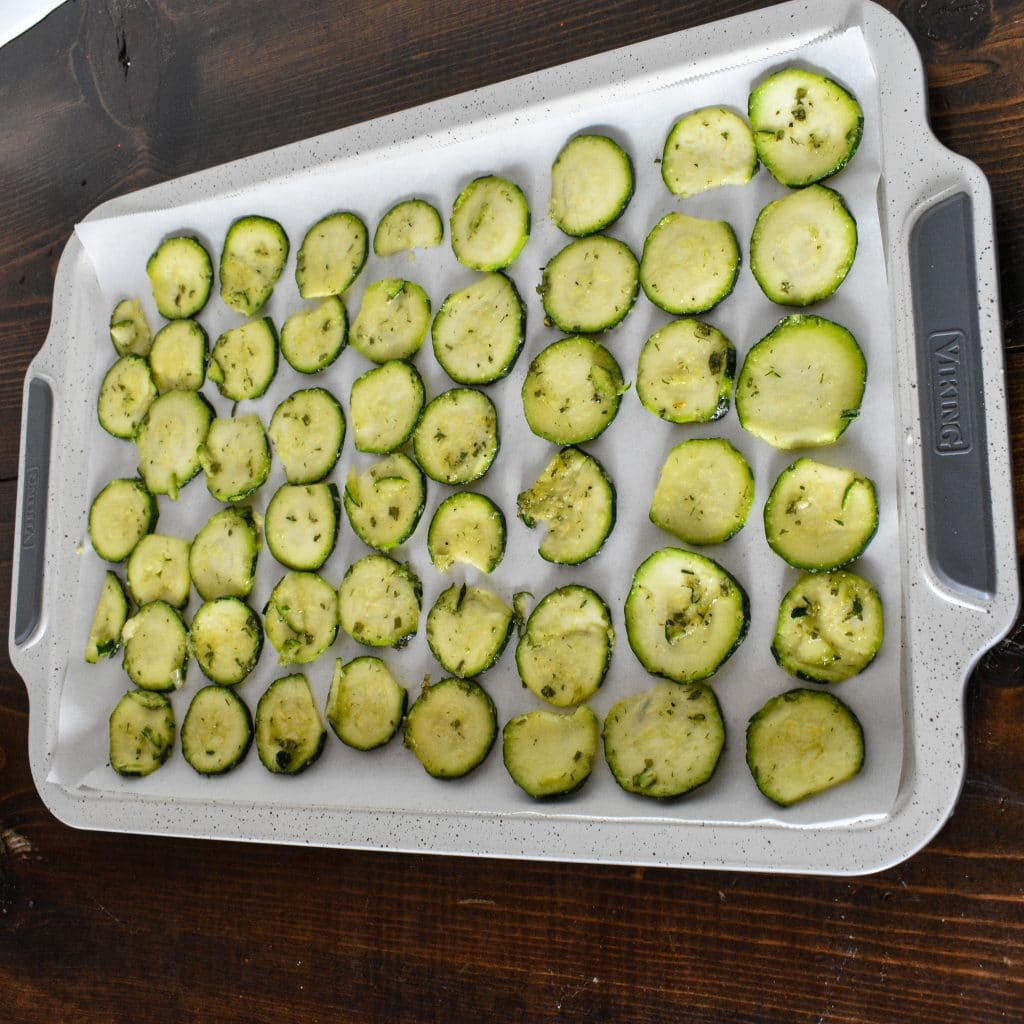 Zuchinni Slices for Low-Carb Keto Zucchini Chips