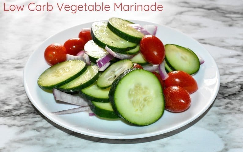 Low-Carb Sweet and Tangy Marinated Vegetables