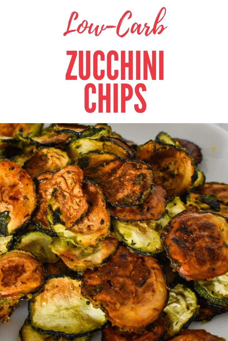 These crispy keto zuchinni chips are a great keto chip alternative. They are a crunchy all-natural ranch flavored chip. Perfect for paleo and keto diets.
