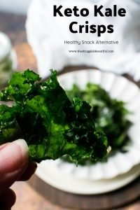 Zesty Ranch Flavored Keto Kale Crisps, A Healthy Snack Alternative