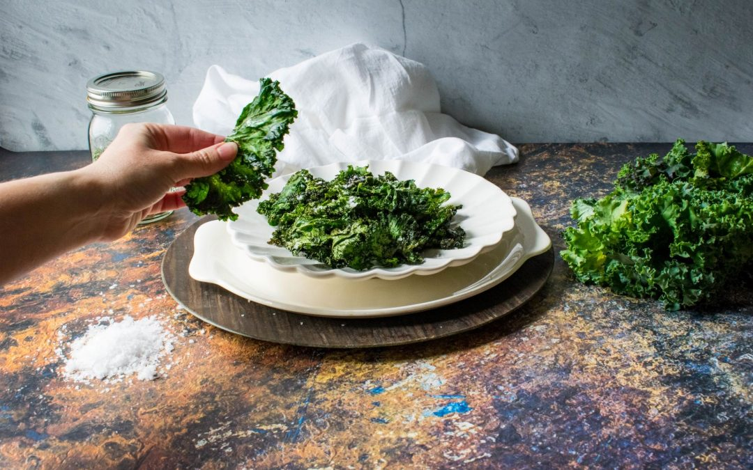 crispy ranch flavored baked kale