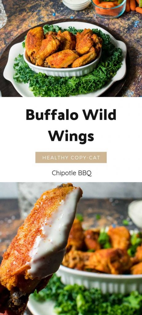 These Chipotle BBQ Dry wings are a great healthy alternative to Buffalo Wild Wings.