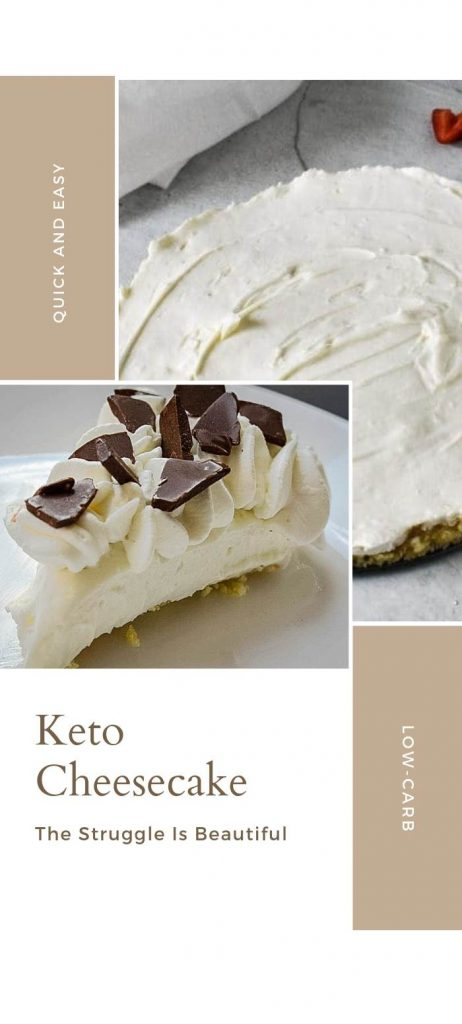 Low-Carb No Bake Cheesecake