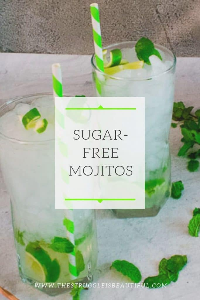 Delicious Icy mojitos served with fresh mint and lime