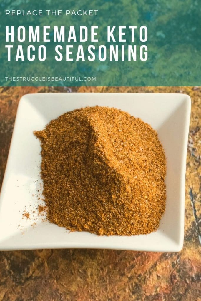 Homemade keto taco seasoning in pinch bowl