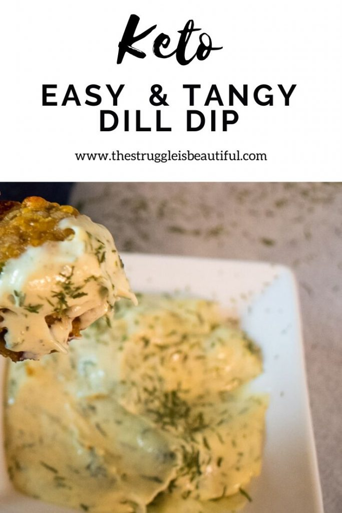 Keto Easy and Tangy Dill Dip