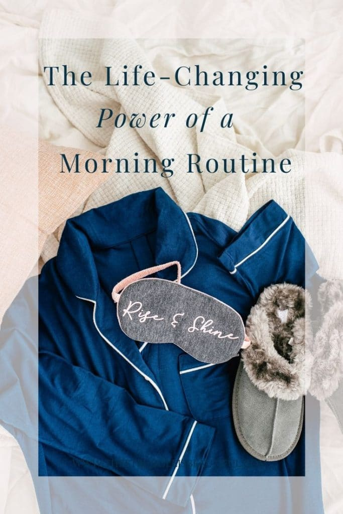The lfe-changing power of a morning routine. Make time for a calm morning.