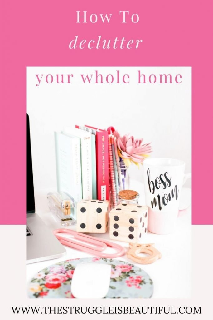 How to declutter your whole home in one weekend.