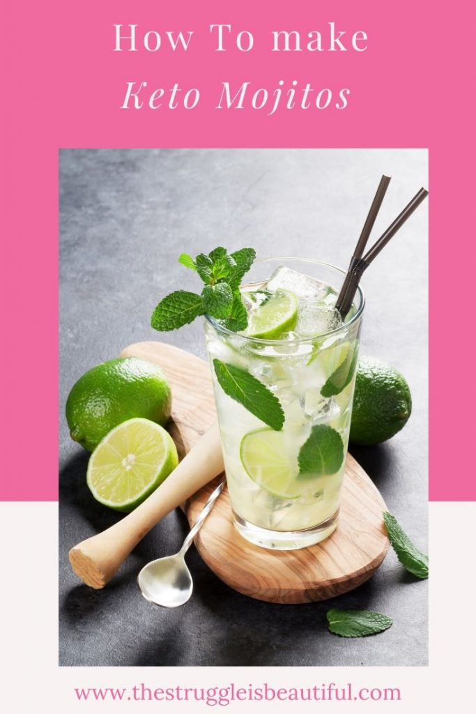 Learn how to make these amazing low carb mojitos.