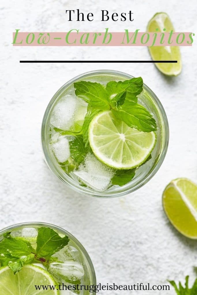 Easy recipe for the bestLow-carb keto mojitos.